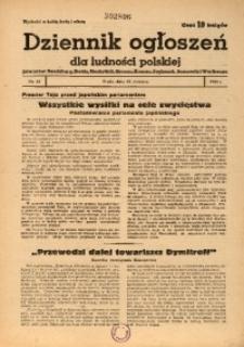 Dziennik Ogłoszeń Dla Ludności Polskiej, 1943, nr49