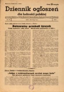 Dziennik Ogłoszeń Dla Ludności Polskiej, 1943, nr58