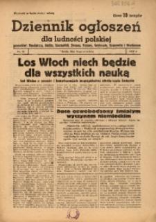 Dziennik Ogłoszeń Dla Ludności Polskiej, 1943, nr73
