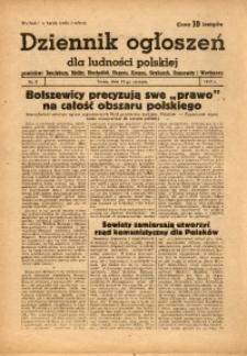 Dziennik Ogłoszeń Dla Ludności Polskiej, 1944, nr3