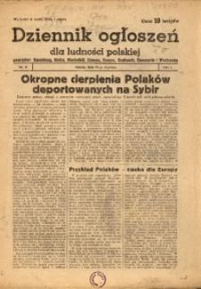 Dziennik Ogłoszeń Dla Ludności Polskiej, 1944, nr6