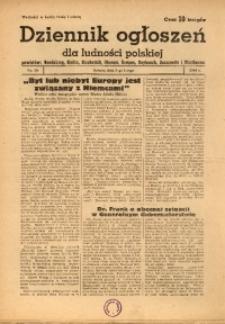 Dziennik Ogłoszeń Dla Ludności Polskiej, 1944, nr10