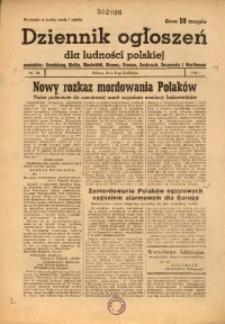 Dziennik Ogłoszeń Dla Ludności Polskiej, 1944, nr28