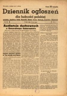 Dziennik Ogłoszeń Dla Ludności Polskiej, 1944, nr38