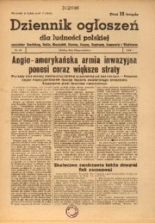 Dziennik Ogłoszeń Dla Ludności Polskiej, 1944, nr45