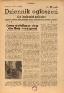 Dziennik Ogłoszeń Dla Ludności Polskiej, 1944, nr47