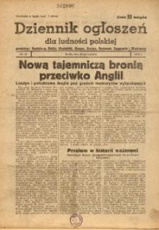 Dziennik Ogłoszeń Dla Ludności Polskiej, 1944, nr48