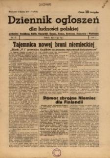 Dziennik Ogłoszeń Dla Ludności Polskiej, 1944, nr51