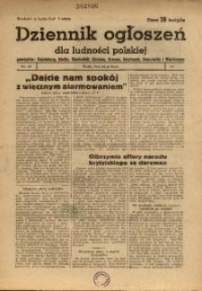 Dziennik Ogłoszeń Dla Ludności Polskiej, 1944, nr54