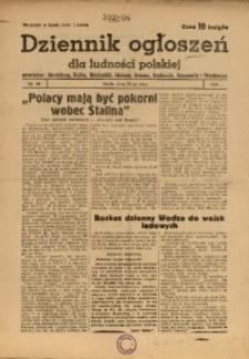 Dziennik Ogłoszeń Dla Ludności Polskiej, 1944, nr58