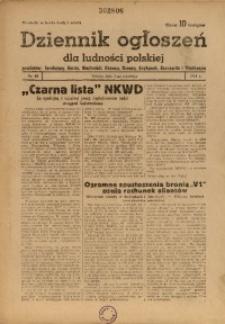 Dziennik Ogłoszeń Dla Ludności Polskiej, 1944, nr69