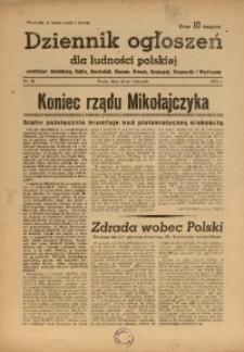 Dziennik Ogłoszeń Dla Ludności Polskiej, 1944, nr94