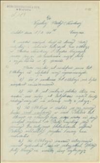 Pismo porucznika Bulowskiego, komendanta milicji w Bielsku do Rady Narodowej Księstwa Cieszyńskiego z wyjaśnieniami dotczącymi skarg na milicję ze strony władz miejskich Bielska i przedstawicieli ludności niemieckiej 15.09.1919