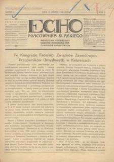 Echo Pracownika Śląskiego, 1929, R. 10, nr 2