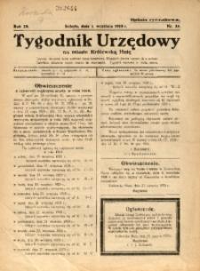 Tygodnik Urzędowy na Miasto Królewską Hutę, 1928, nr 35