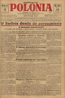 Polonia, 1927, R. 4, nr 321