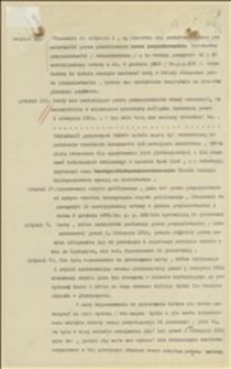 Uwagi dotyczące poszczególnych artykułów rozporządzenia Nr 19 Komisji Międzynarodowej
