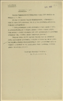 Komunikat Prefekta dla wschodniej części Śląska Cieszyńskiego z 08.05.1920 r. dotyczący decyzji Komisji Międzysojuszniczej w Cieszynie w sprawie prawa do głosowania