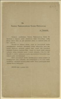 Do Świetnej Międzynarodowej Komisji Plebiscytowej w Cieszynie
