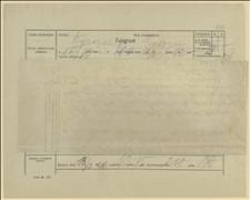 Telegram Ryszarda Kunickiego do posła Jerzego Kantora w Warszawie w sprawie przyśpieszenia transportów mąki, Cieszyn, 13.02.1920 r.