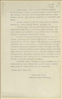 Relacja Piotra Korzeniowskiego z Karwiny, komendanta milicji ochotniczej o walce z bojówkarzami czeskimi koło Jaworza i internowaniu przez Włochów, Cieszyn, 24.05.1920 r.