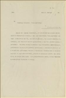 Pismo do Głównego Komitetu Plebiscytowego w Cieszynie w sprawie dokonywania zmian personalnych w Starostwie w Białej przed zakończeniem plebiscytu, Cieszyn, 04.02.1920 r.