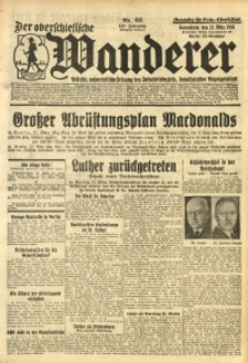 Der Oberschlesische Wanderer, 1933, Jg. 150 [właśc. 105], Nr. 65