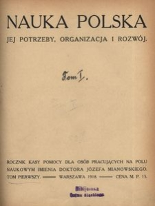 Nauka Polska, 1918, R. 1