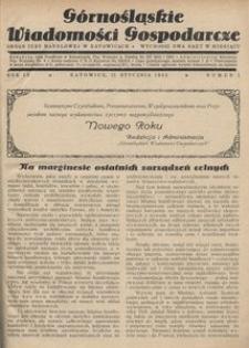 Górnośląskie Wiadomości Gospodarcze, 1932, R. 9, nr 1