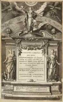 Theatri cometici pars prior Communicationes de cometis 1664 et 1665. cum Viris per Europam Cl. habitis, eorum observationes [...] continens