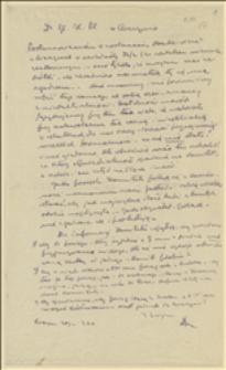 Kopie listów Jana Michejdy do Głównego Komitetu Plebiscytowego w Cieszynie w sprawie organizacji wiecu w Cieszynie w niedzielę 22.02.1920 r., oraz w sprawie umocnienia kontaktów osobistych z oficerami włoskimi, Cieszyn, 20.02.1920 r.