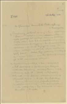Kopia listu Jana Michejdy do Głównego Komitetu Plebiscytowego w Cieszynie w sprawie postępowania z uciekinierami polskimi z czeskiej strony, którzy chcą służyć w Wojsku Polskim, Cieszyn, 26.02.1920 r.