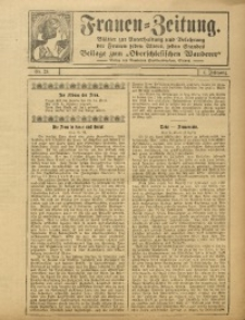 Frauen Zeitung, 1912, Jg. 5, Nr. 23
