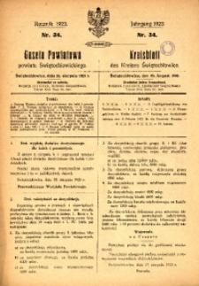 Gazeta Powiatowa Powiatu Świętochłowickiego, 1923, nr 35