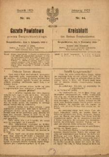 Gazeta Powiatowa Powiatu Świętochłowickiego, 1923, nr 44
