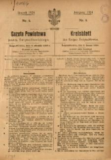 Gazeta Powiatowa Powiatu Świętochłowickiego, 1924, nr 1