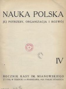 Nauka Polska, 1923, R. 4