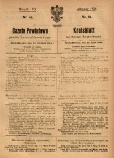 Gazeta Powiatowa Powiatu Świętochłowickiego, 1924, nr 16