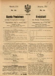Gazeta Powiatowa Powiatu Świętochłowickiego, 1924, nr 24