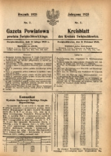 Gazeta Powiatowa Powiatu Świętochłowickiego, 1925, nr 7