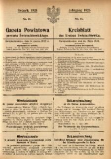 Gazeta Powiatowa Powiatu Świętochłowickiego, 1925, nr 11