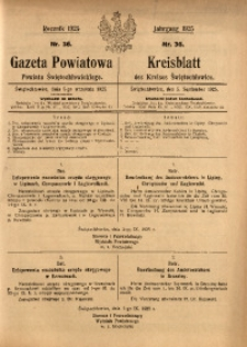 Gazeta Powiatowa Powiatu Świętochłowickiego, 1925, nr 36
