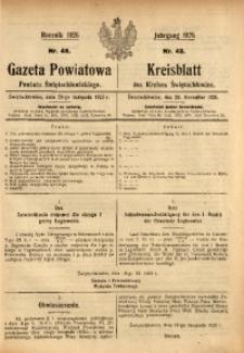 Gazeta Powiatowa Powiatu Świętochłowickiego, 1925, nr 48