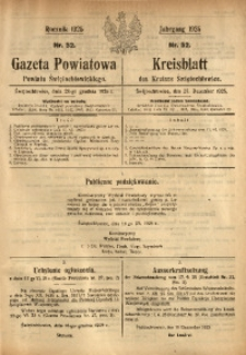 Gazeta Powiatowa Powiatu Świętochłowickiego, 1925, nr 52