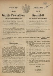 Gazeta Powiatowa Powiatu Świętochłowickiego, 1926, nr 4