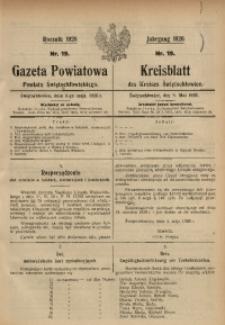 Gazeta Powiatowa Powiatu Świętochłowickiego, 1926, nr 19