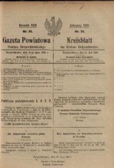 Gazeta Powiatowa Powiatu Świętochłowickiego, 1926, nr 31