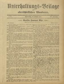 Unterhaltungs-Beilage zum Oberschlesischen Wanderer, 1912, Jg. 85, Nr. 8