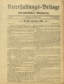 Unterhaltungs-Beilage zum Oberschlesischen Wanderer, 1912, Jg. 85, Nr. 29