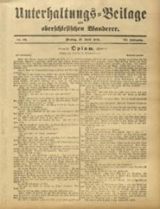 Unterhaltungs-Beilage zum Oberschlesischen Wanderer, 1912, Jg. 85, Nr. 85